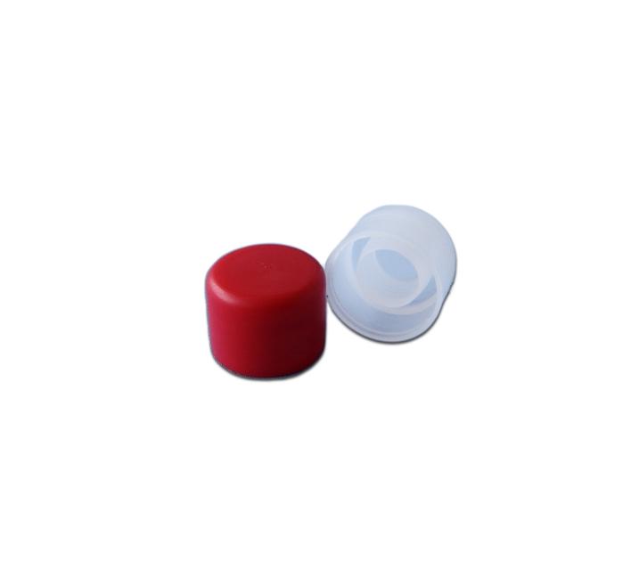 Пробка пластиковая для бутылки Порто (красная), 12 шт