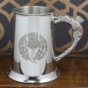Кельтский Танкард (пивная кружка) - Символ Шотландии - чертополох - (ручка также в виде чертополоха)