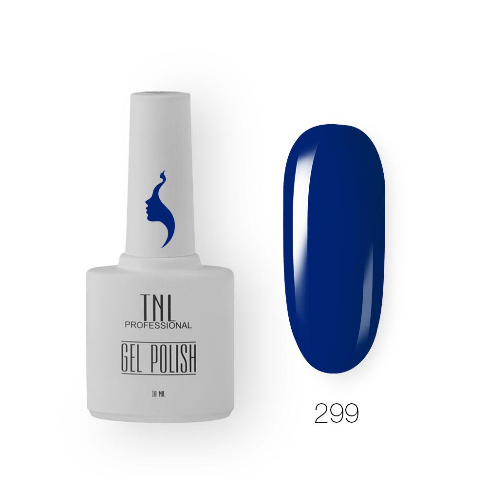 Гель-лак TNL 8 Чувств №299 - насыщенный синий (10 мл.)