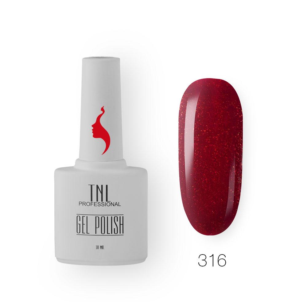 Гель-лак TNL 8 Чувств №316 - ягодный блеск (10 мл.)