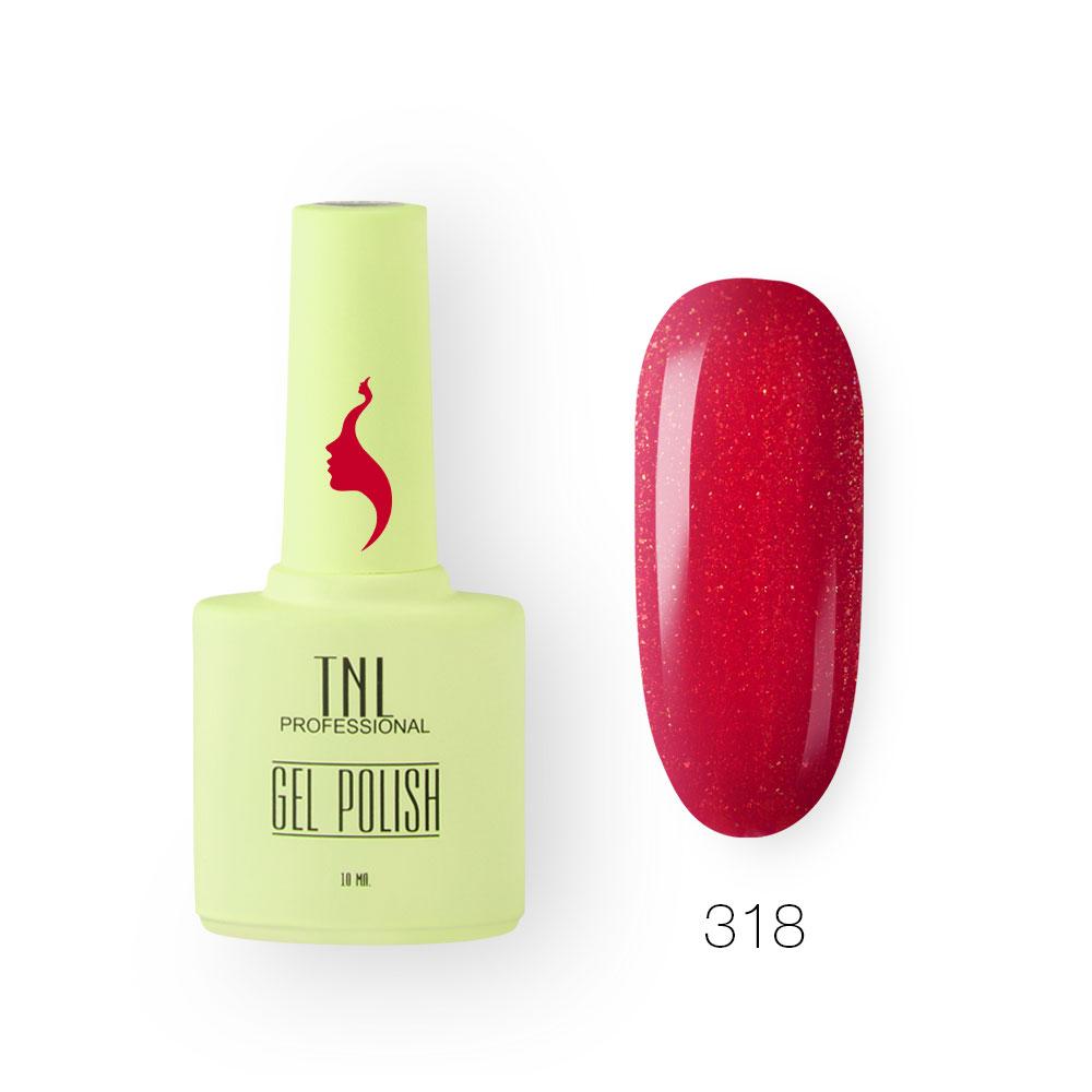 Гель-лак TNL 8 Чувств №318 - осколки рубина (10 мл.)
