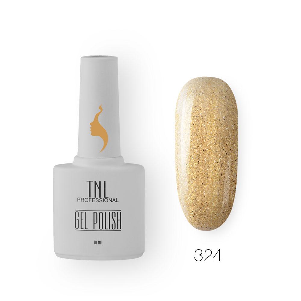 Гель-лак TNL 8 Чувств №324 - золотой звездопад (10 мл.)