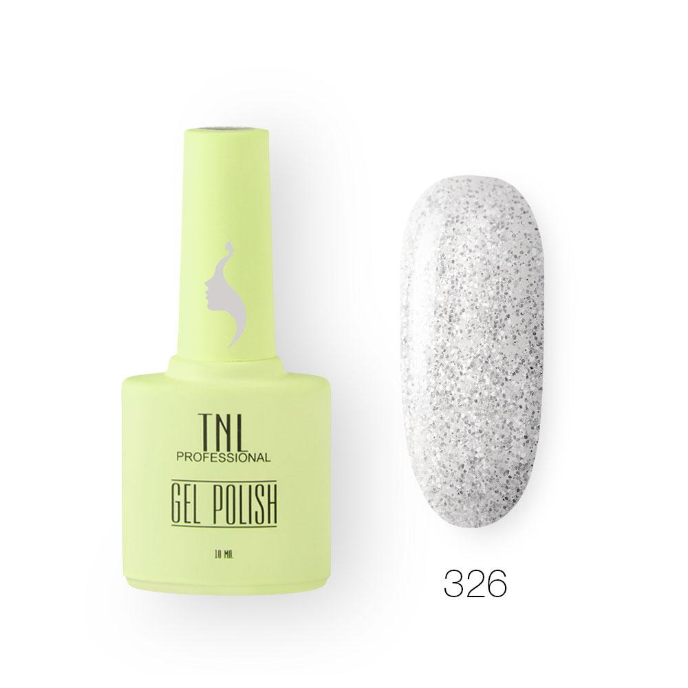 Гель-лак TNL 8 Чувств №326 - снежинки (10 мл.)