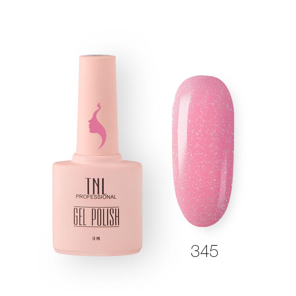 Гель-лак TNL 8 Чувств №345 - розовый блеск (10 мл.)