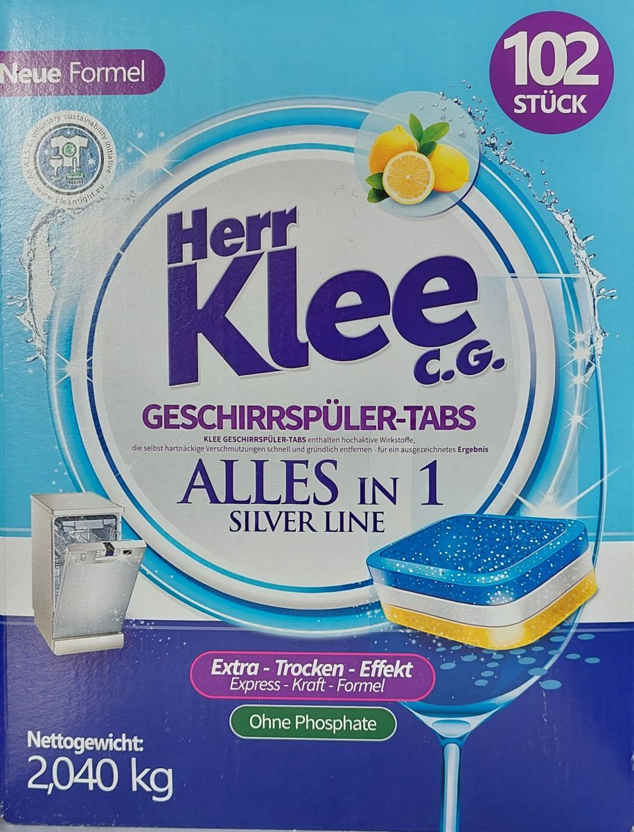 Таблетки для п/м Herr Klee AllInOne 102шт