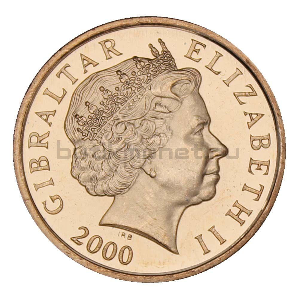 2 пенса 2000 Гибралтар