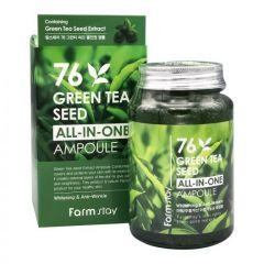 775090 FarmStay Многофункциональная сыворотка с семенами зеленого чая 76 Green Tea Seed All-in-One Ampoule
