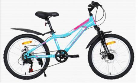 """Велосипед 20"""" AVENGER C201DW зеленый/розовый"""