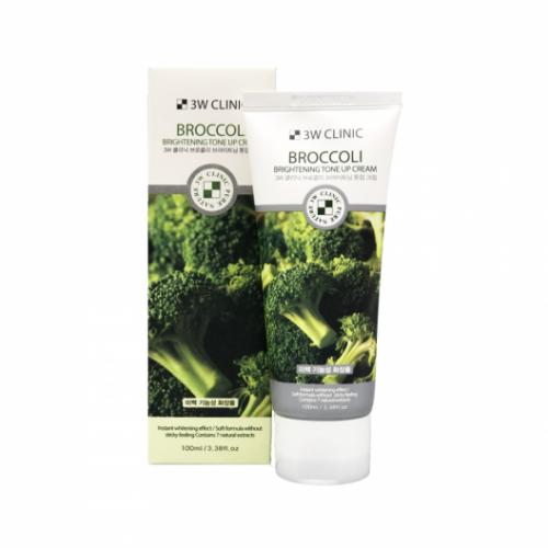 100234 3W CLINIC Крем с экстрактом брокколи Broccoli Brightening Tone Up Cream