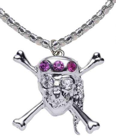 Ожерелье Череп в Алмазах