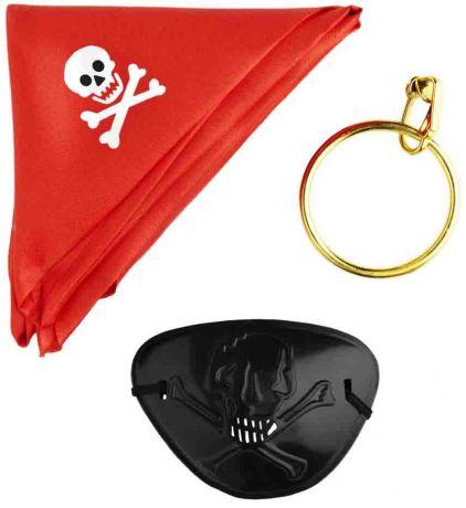 Набор Пирата (Платок, серьга, повязка)