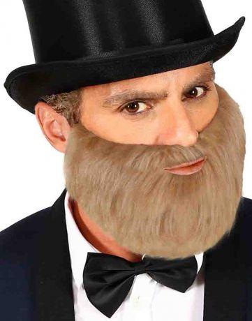 Борода седая окладистая
