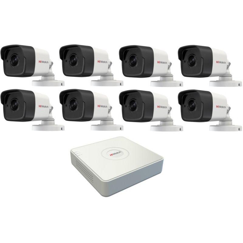 Комплект 8 камеры  HiWatch 2Мп