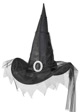 Колпак Ведьмы Черный с вуалью