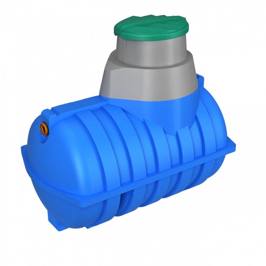 Подземная емкость 2000 литров Rostok синяя для питьевой воды