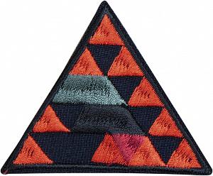 фото Термо-аппликация HKM Треугольники в треугольнике 59 мм x 49 мм  Германия 39054