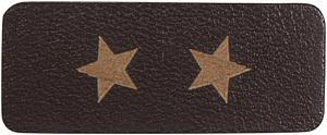 Термо-аппликация HKM кожа Звезды  36 мм х 15 мм Германия (39029)