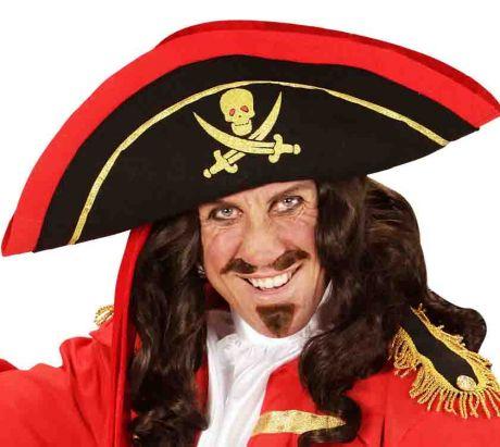 Треуголка Пирата с красным кантом
