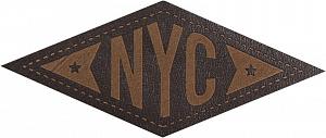 фото Термо-аппликация HKM кожа ЗВЕЗДЫ НЬЮ-ЙОРКА 66 мм х 28 мм  Германия 39028