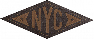 Термо-аппликация HKM кожа ЗВЕЗДЫ НЬЮ-ЙОРКА 66 мм х 28 мм  Германия (39028)