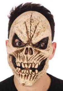 Маска Скелет тёмный с ухмылкой