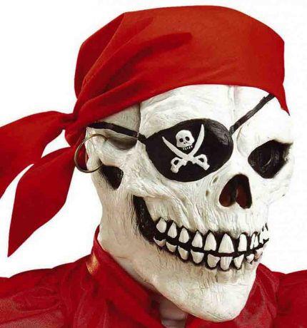 Маска Череп Пирата с банданой
