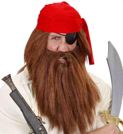 Парик Пирата с бородой