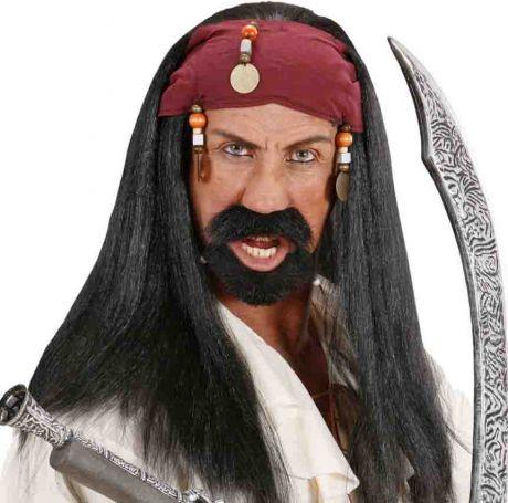 Парик Карибского Пирата с банданой