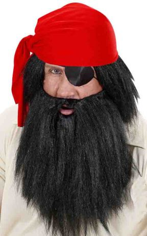 Парик Пирата с черной бородой