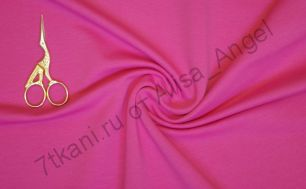 Ярко розовый футер 2-х нитка отрез 0,65м и 0,5м