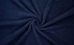 Темно синий  полар-флис  отрез 0,5м (ширина 135м)