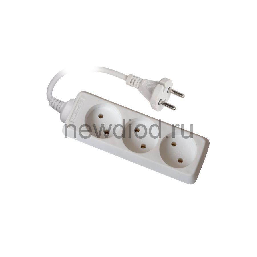 Удлинитель S-CD3-3 серии Стандарт б/з 3 гн шнур 3м