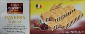 Вафли Feiny Biscuits (какао) 250г