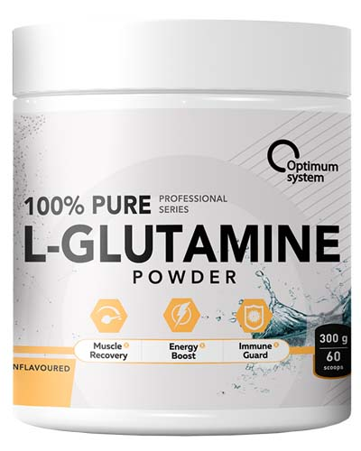 Optimum System Pure Glutamine Powder 300гр. 60 порций