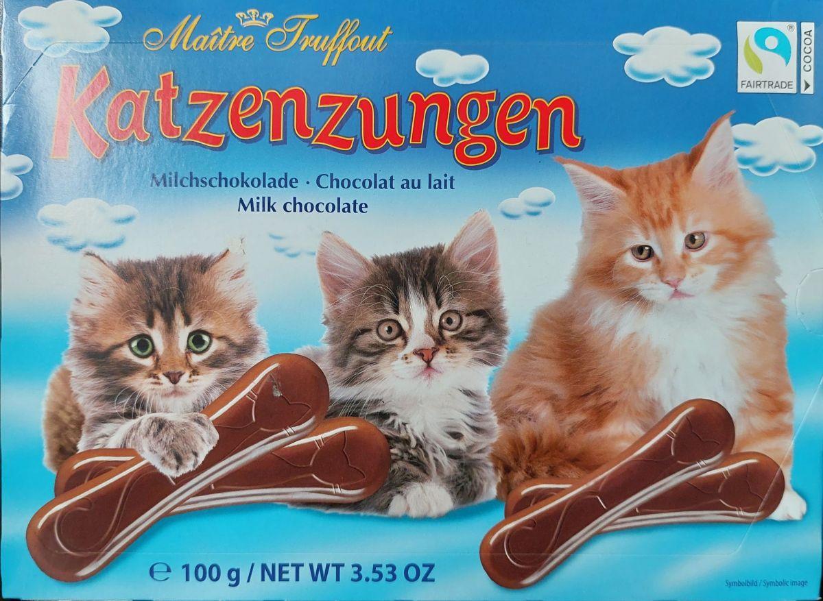 "Шоколад Maitre Truffout ""Кошачьи языки"" (молочный шоколад) 100г"