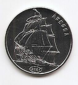 Парусник Аврора  1 доллар Остров Флорес 2021