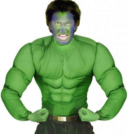 """Рубашка """"Супер Мускулы"""" зеленая (XL)"""