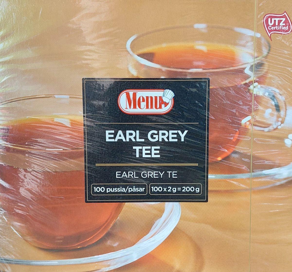 Чай Menu (бергамот) 100 пакетов