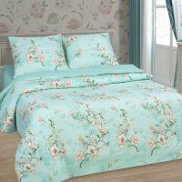 «Миндаль» (DE LUXE) постельное белье Поплин 2-х спальный с евро