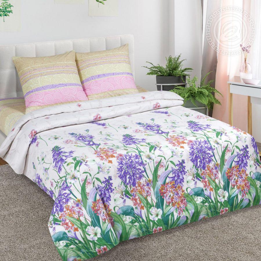 «Хоста» (DE LUXE) постельное белье Поплин 1.5 спальный