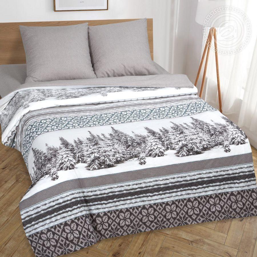 «Аляска» (DE LUXE) постельное белье Поплин 2-х спальный с евро