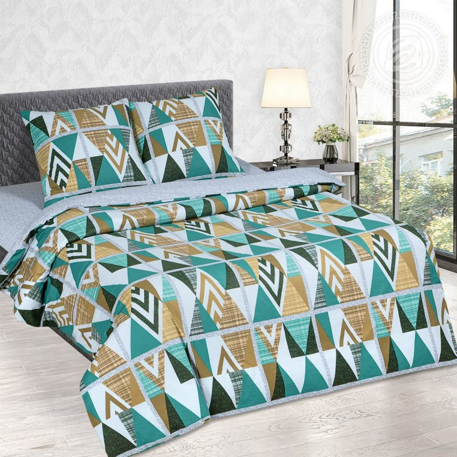 «Апачи» (DE LUXE) постельное белье Поплин 1.5 спальный