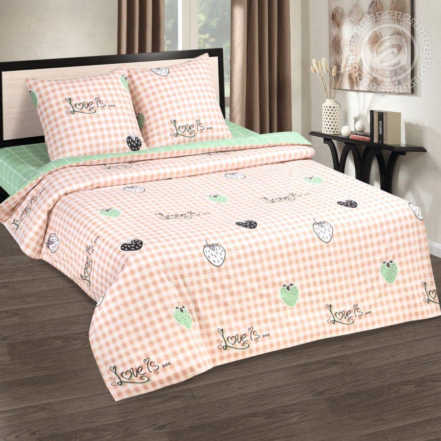 «Вкус лета» (DE LUXE) постельное белье Поплин 2-х спальный с евро