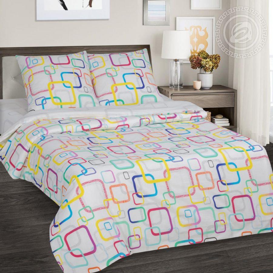 «Лабиринт» (DE LUXE) постельное белье Поплин 2-х спальный с евро