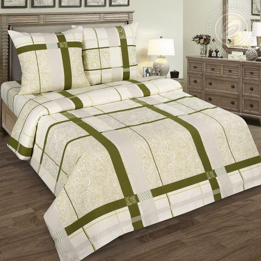 «Пальмира» (DE LUXE) постельное белье Поплин 1.5 спальный