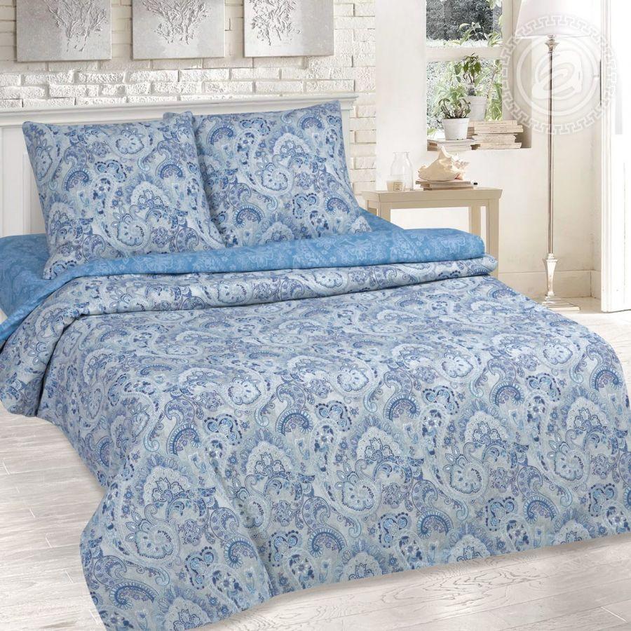 «Сапфир» (DE LUXE) постельное белье Поплин 2-х спальный
