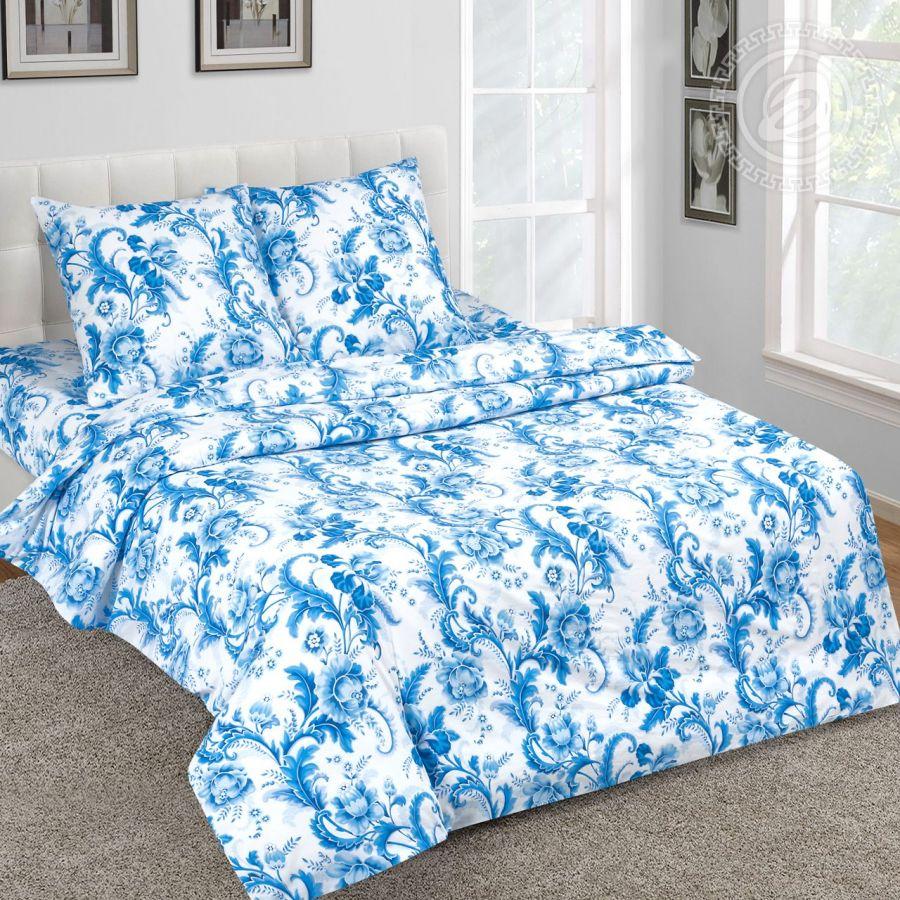 «Северина» (DE LUXE) постельное белье Поплин Евро
