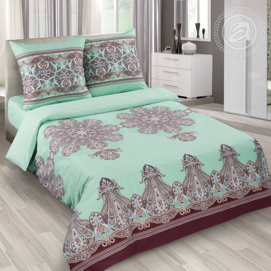 «Турецкие мотивы» (DE LUXE) постельное белье Поплин Семейный