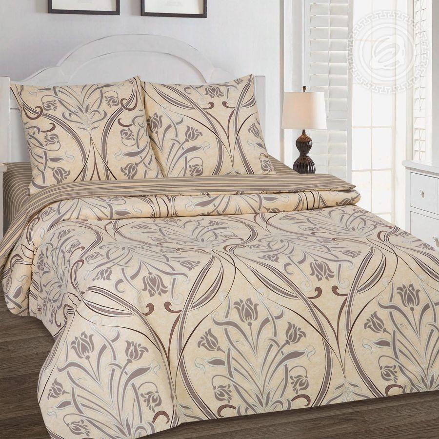 «Варьете» (DE LUXE с простынью на резинке) постельное белье Поплин Семейный