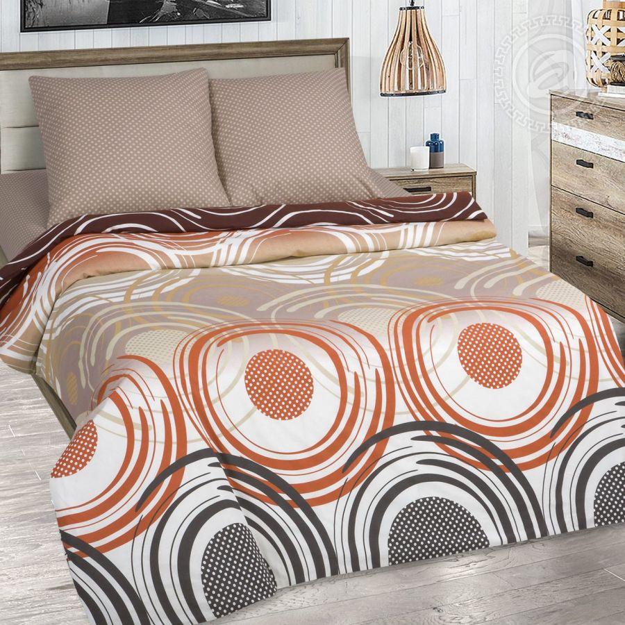 «Галактика» (DE LUXE с простынью на резинке) постельное белье Поплин 1.5 спальный